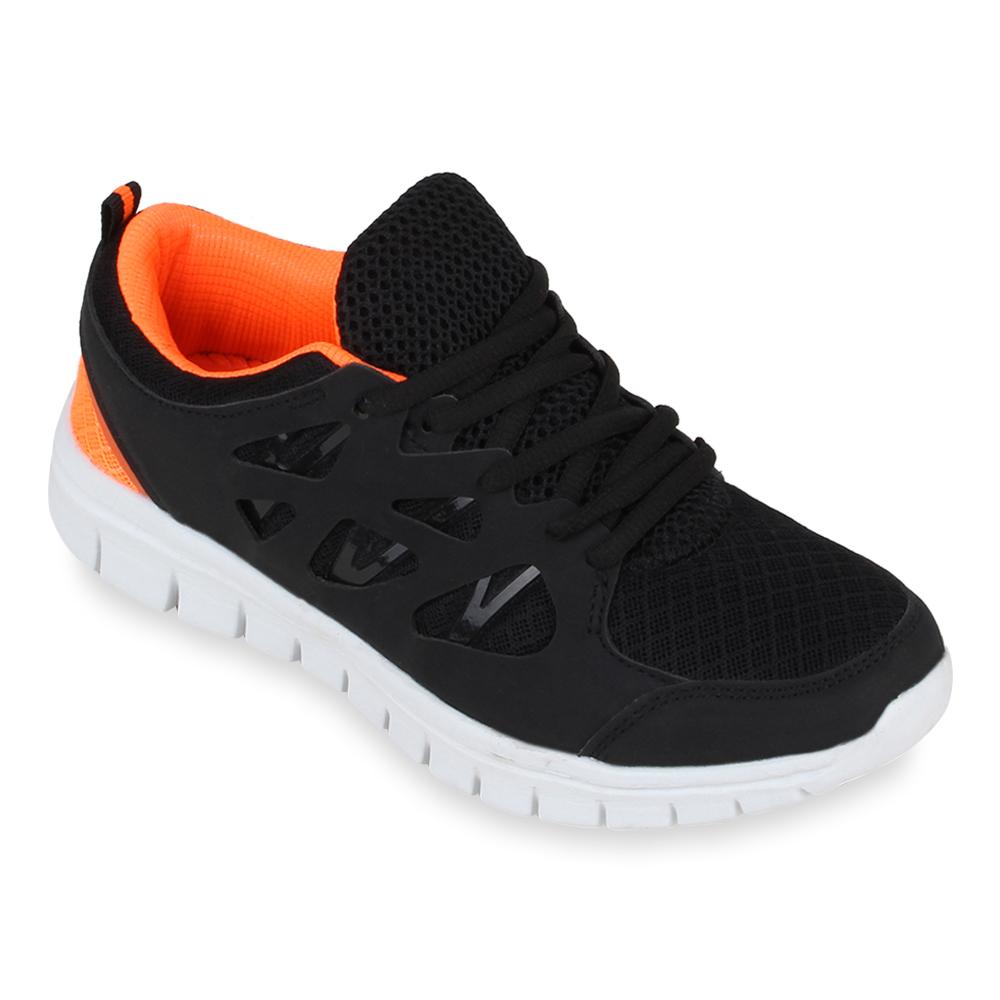 Damen Sportschuhe Laufschuhe - Schwarz Orange