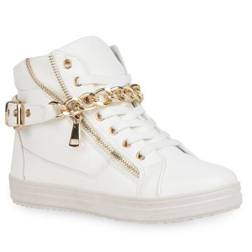 8229dd083af1 Damen Sneaker in Weiß (72756-686) - stiefelparadies.de