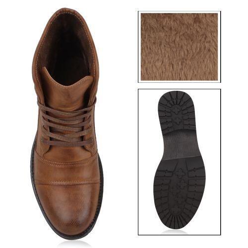 Herren Boots Worker Boots - Braun