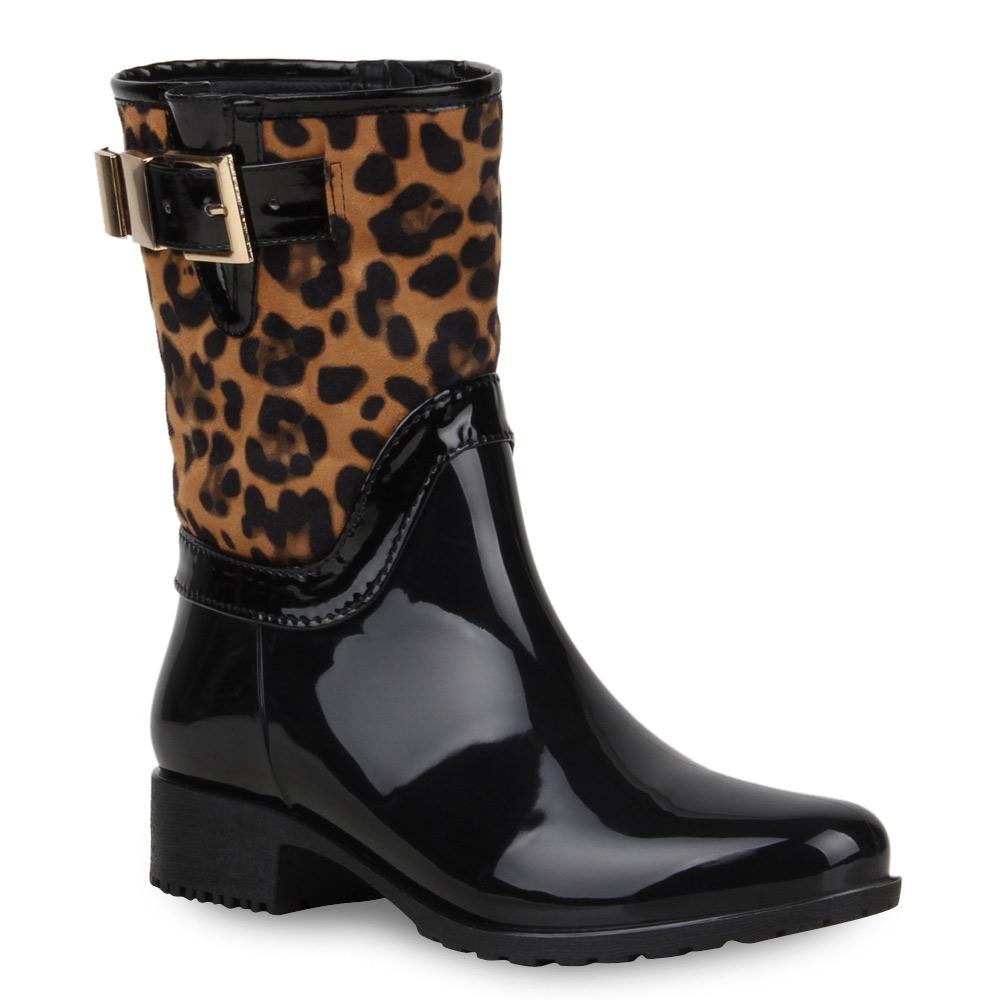 Damen Stiefel Gummistiefel - Leopard