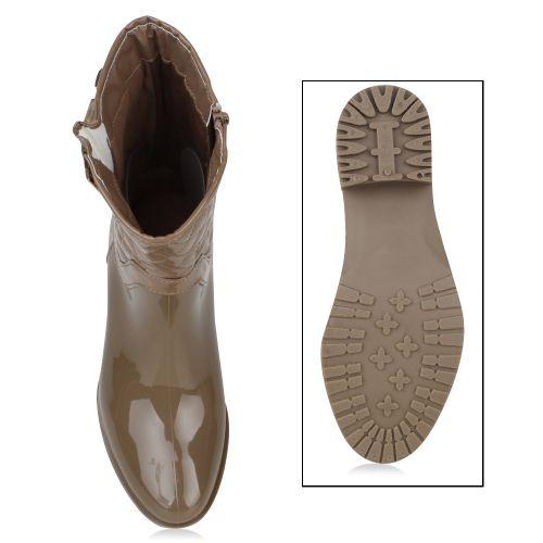 Damen Stiefel Gummistiefel - Khaki