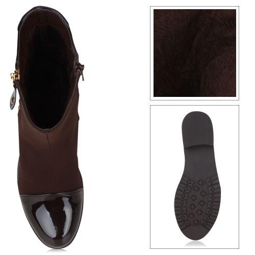 Damen Stiefeletten Klassische Stiefel - Braun