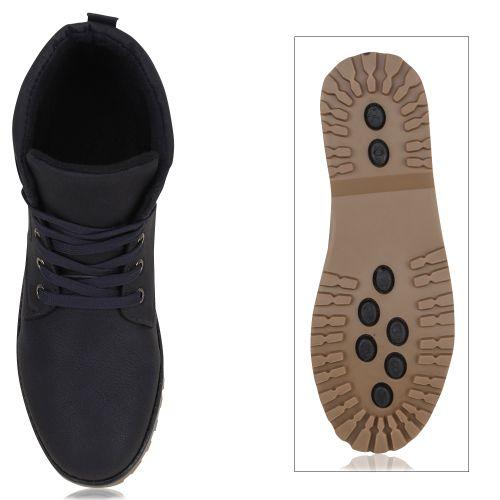 Herren Boots Worker Boots - Dunkelblau