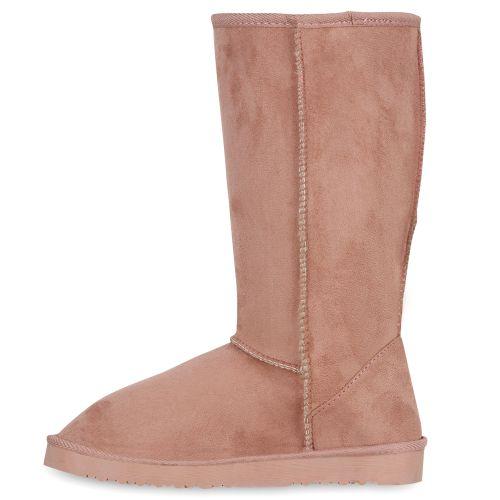 Damen Stiefel Schlupf Stiefel - Rosa - Tijuana