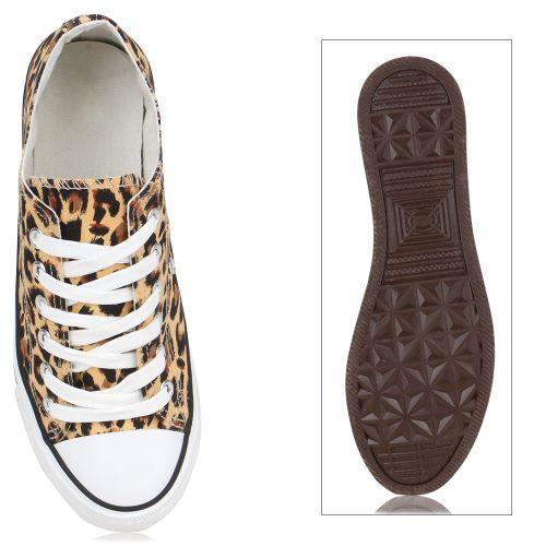 Damen Sneaker low - Braun Leopard