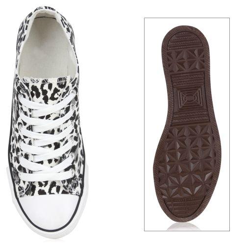 Damen Sneaker low - Schwarz Leopard