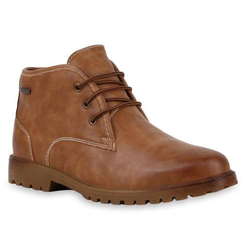 Herren Boots Worker Boots - Hellbraun