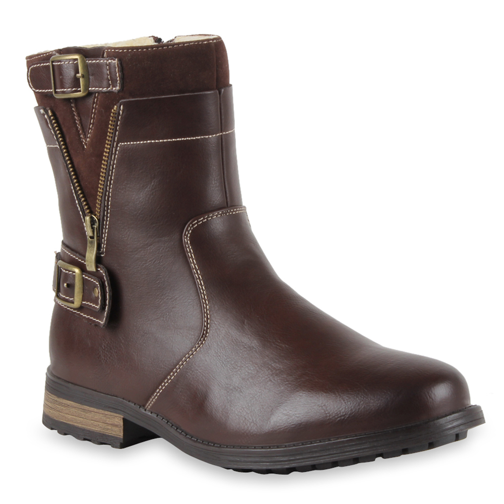 Herren Boots Biker Boots - Braun