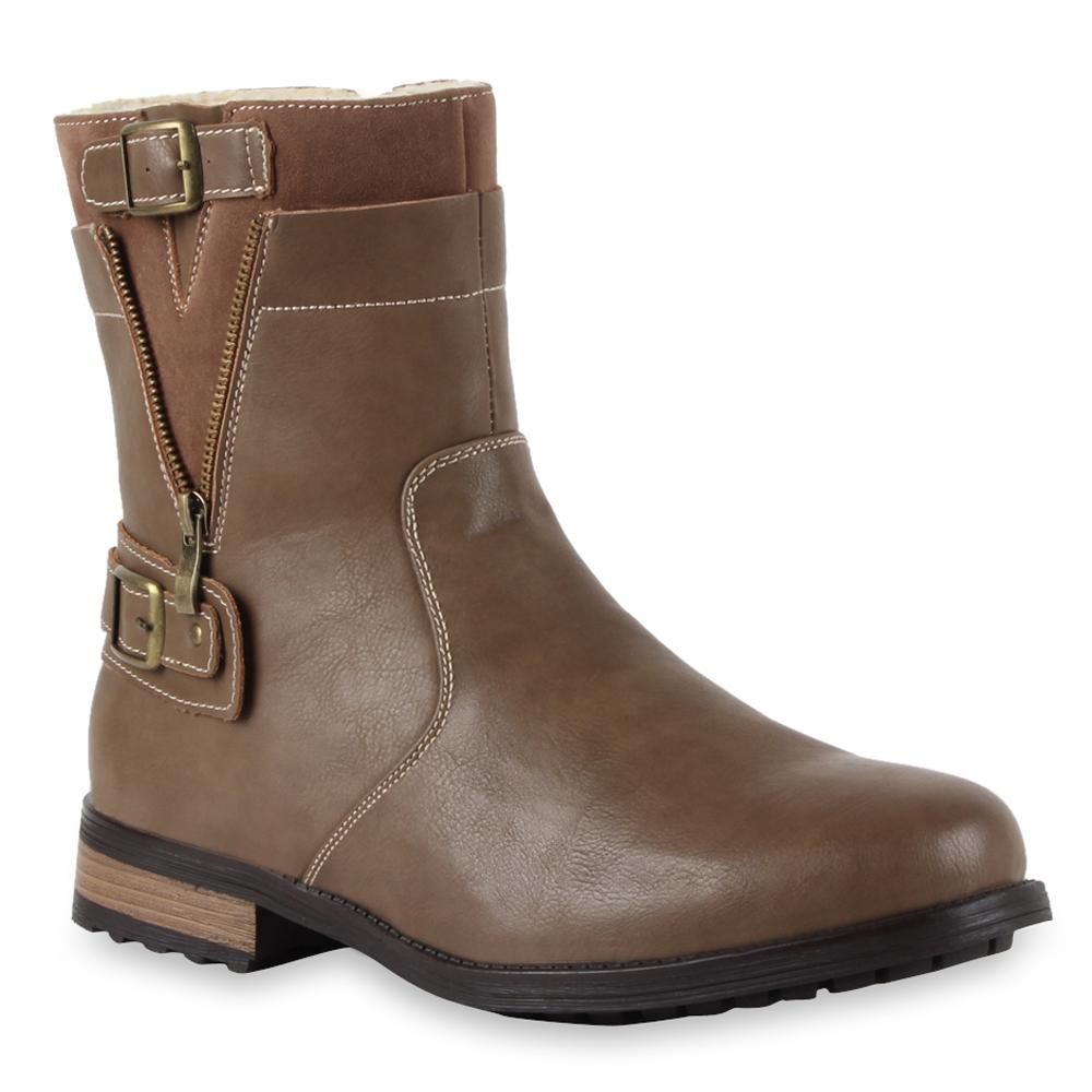 Herren Boots Biker Boots - Khaki