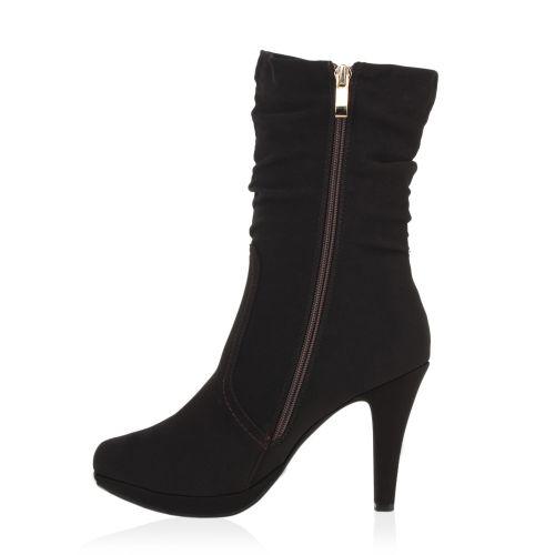 Damen Stiefeletten High Heels - Mokka