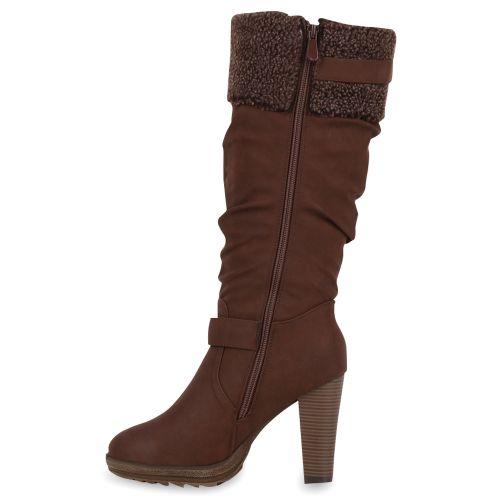 Damen Stiefel High Heels - Braun