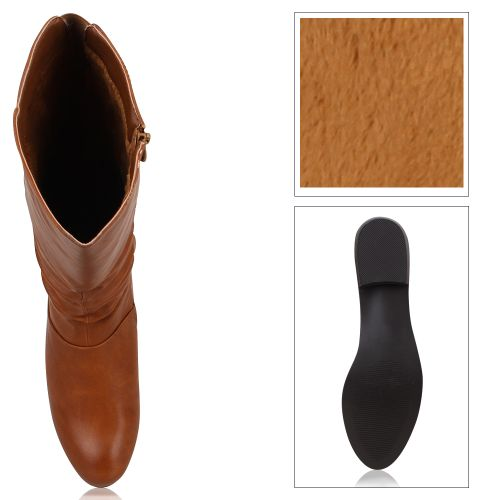 Damen Stiefel Klassische Stiefel - Hellbraun