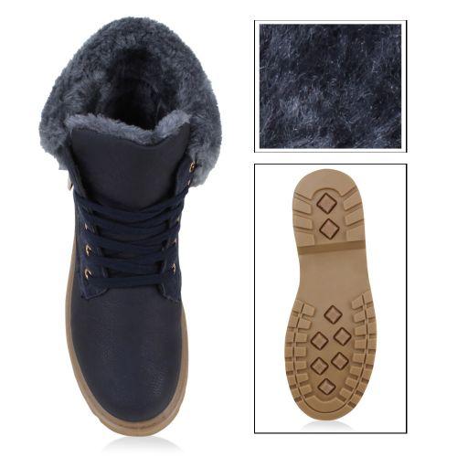Damen Stiefeletten Outdoor Boots - Blau
