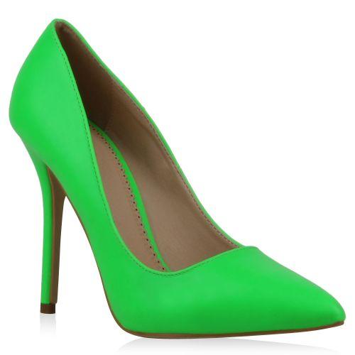 Damen Pumps Spitze Pumps - Neongrün