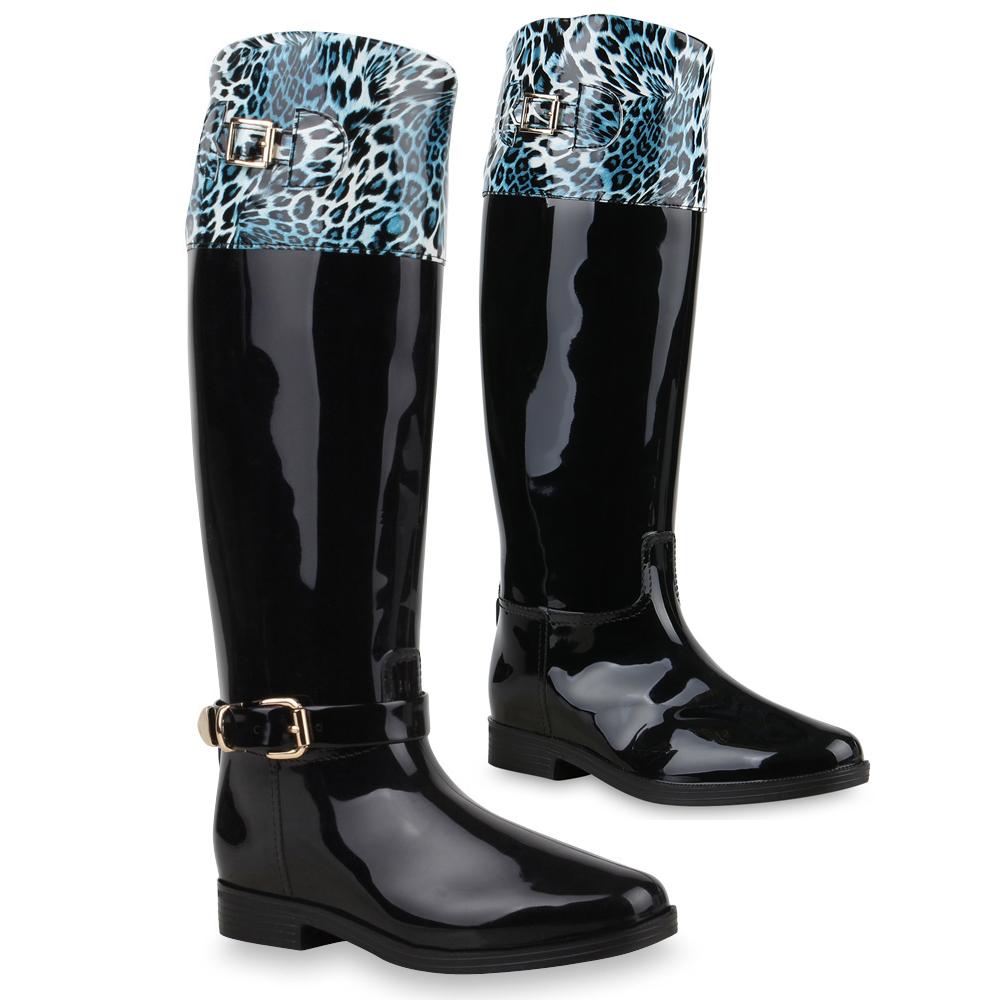 Damen Stiefel Gummistiefel - Blau