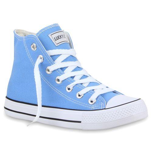 Damen Sneaker high - Himmelblau
