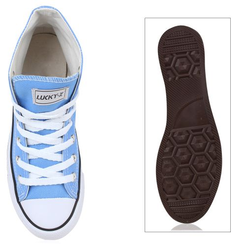 Damen Sneaker high - Himmelblau