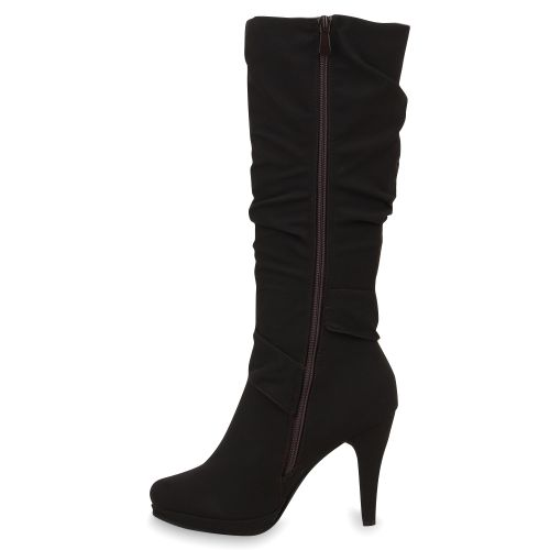 Damen Stiefel High Heels - Coffee