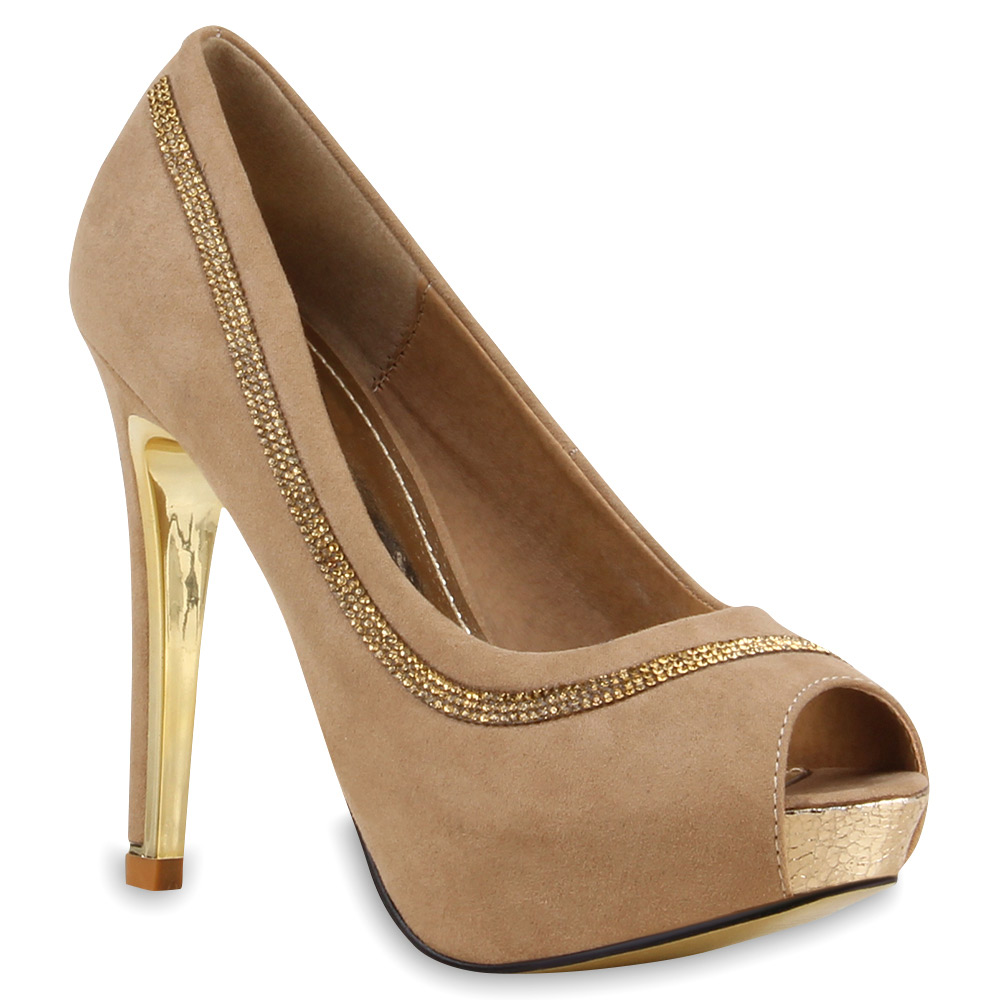 Damen Pumps Peeptoes - Khaki