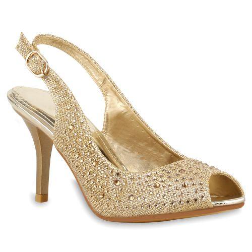 Damen Pumps Slingpumps - Gold
