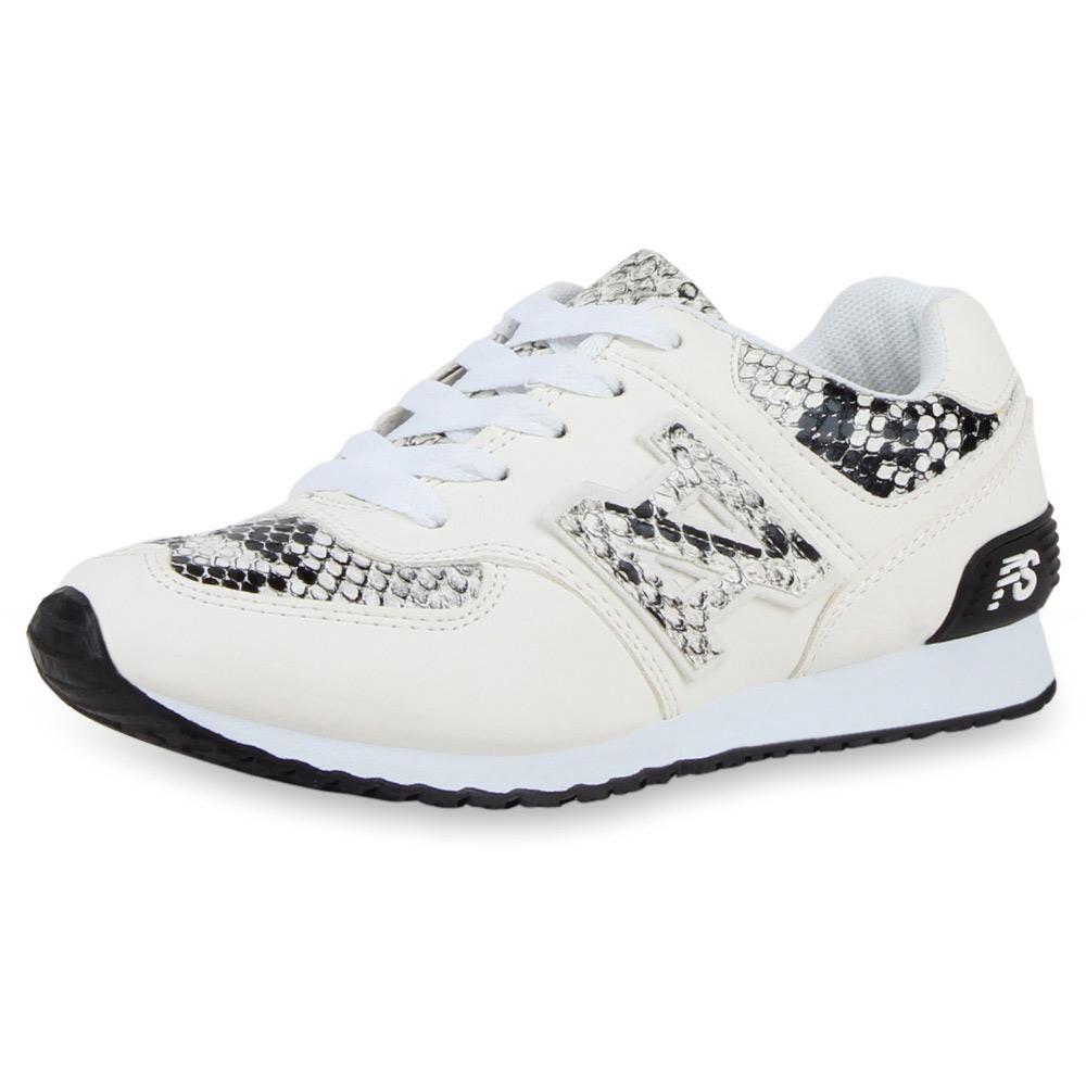 Damen Sportschuhe Laufschuhe - Weiß Snake
