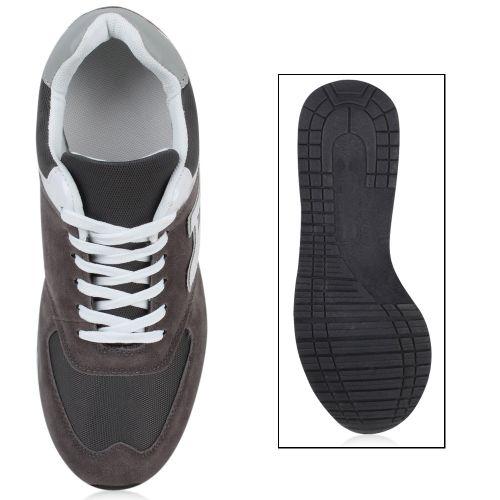 Herren Sportschuhe Laufschuhe - Grau Weiß