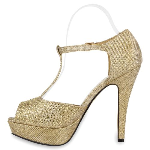 Damen Pumps Peeptoes - Gold