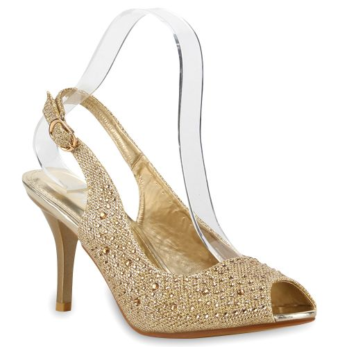 Damen Pumps Slingpumps - Gold