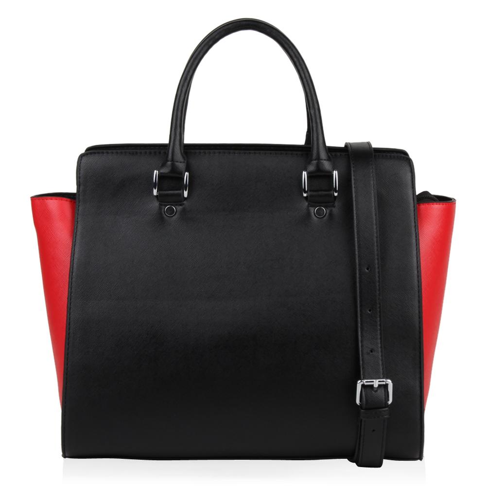 Damen Handtasche - Schwarz Rot