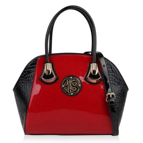 Damen Handtasche - Rot Schwarz