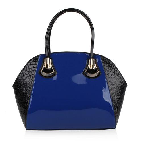 Damen Handtasche - Blau Schwarz