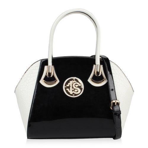 c247d2d302e74 Damen Handtasche in Schwarz Weiß für nur 32