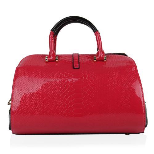 Damen Handtasche - Altrosa Schwarz