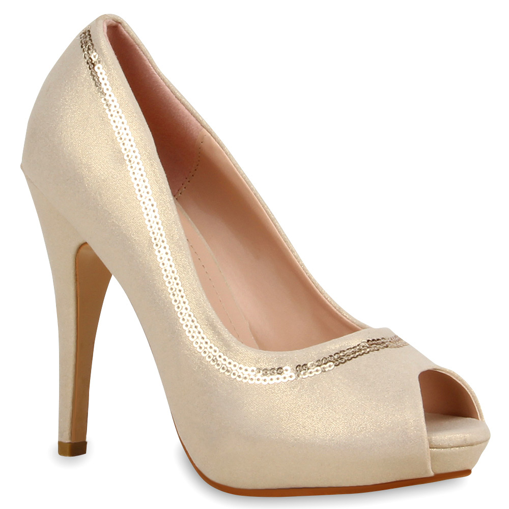Damen Pumps Peeptoes - Gold