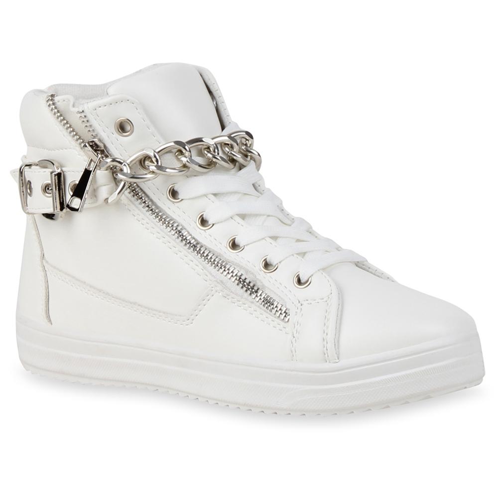 b7de5cc6d6ce4d Damen Sneaker in Weiß Silber (72756-2292) - stiefelparadies.de