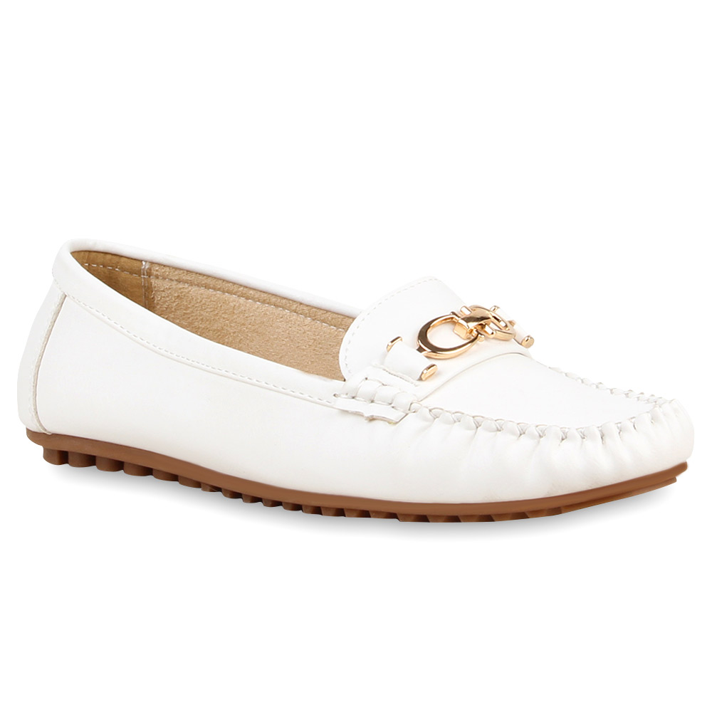 Damen Klassische Slippers - Weiß