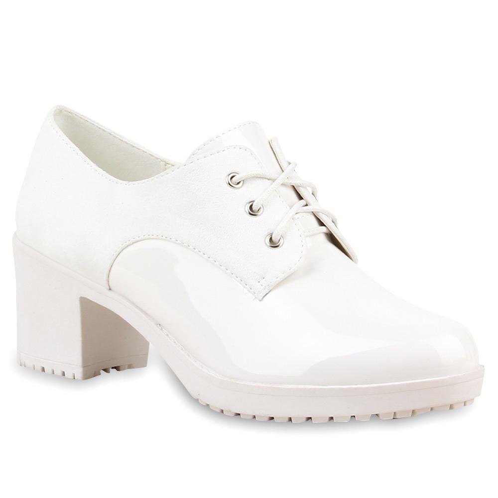 Damen Pumps Schnürpumps - Weiß