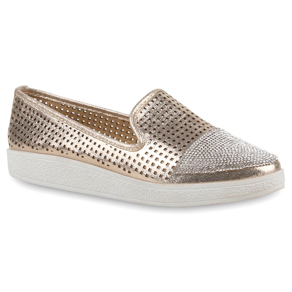 Damen Loafers - Gold