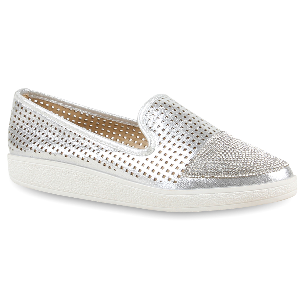 Damen Loafers - Silber