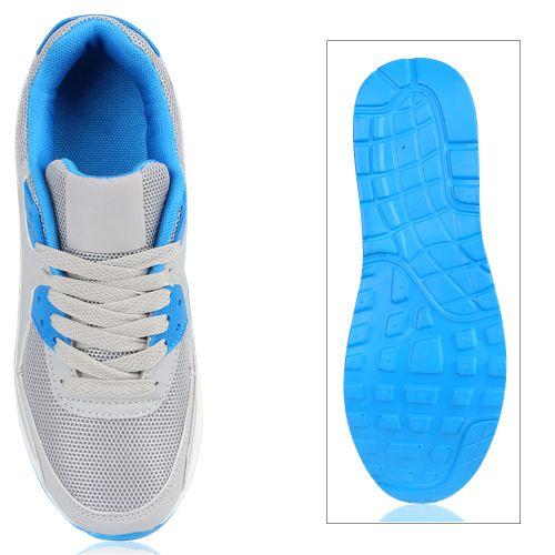 Damen Sportschuhe Laufschuhe - Hellgrau Blau