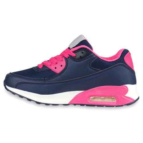 Damen Sportschuhe Laufschuhe - Dunkelblau Pink