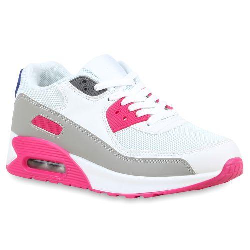 Damen Sportschuhe Laufschuhe - Weiß Pink