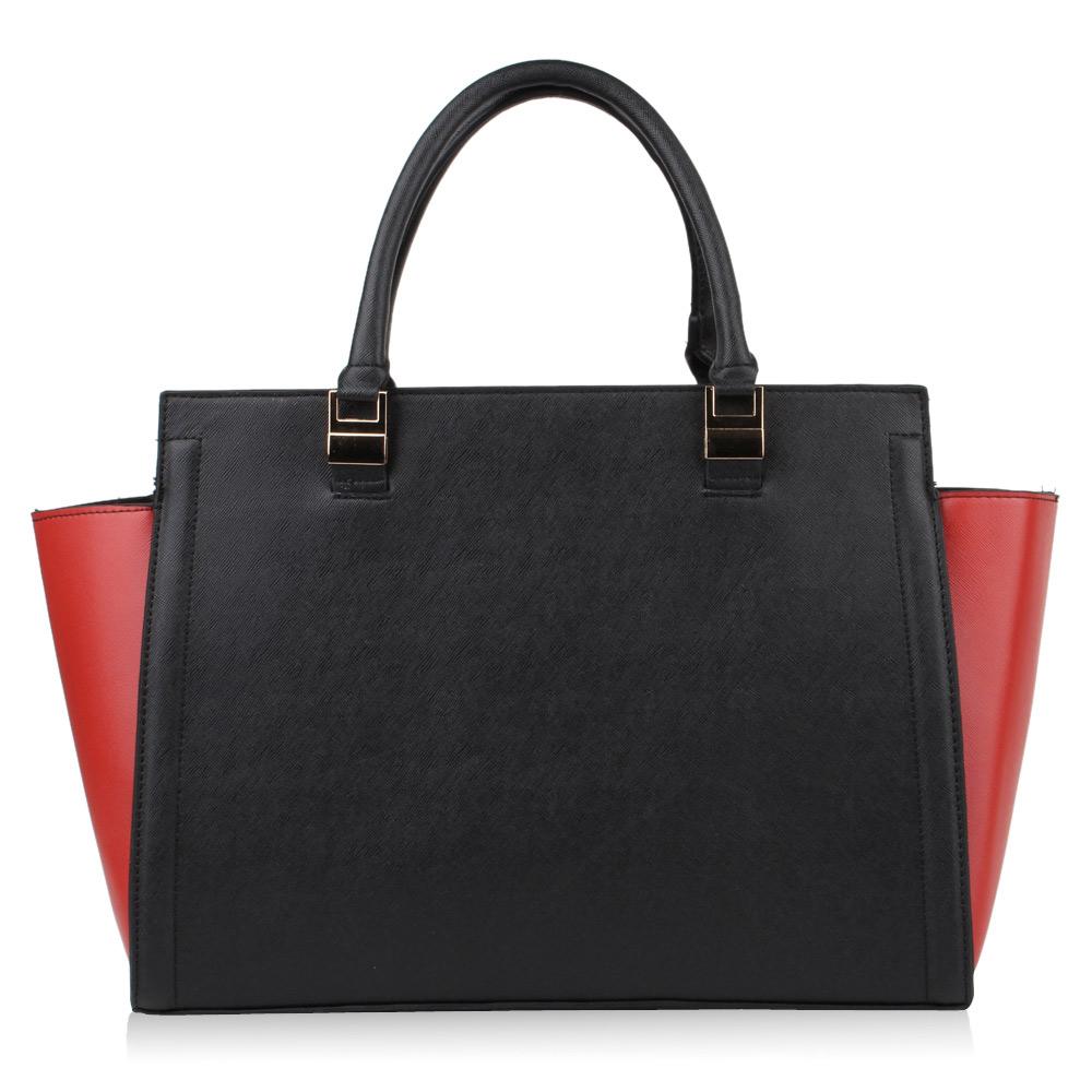 4f8c68ddbe1e6 Damen Handtasche - Schwarz Burgund in Deutschland kaufen