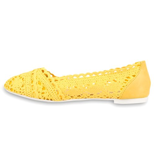 Damen Klassische Ballerinas - Gelb