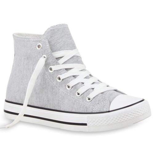 Damen Sneaker high - Hellgrau