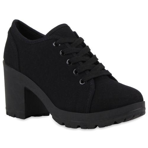 Damen Stiefeletten Ankle Boots - Schwarz Basic