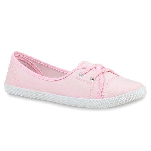 Damen Sportliche Ballerinas - Rosa