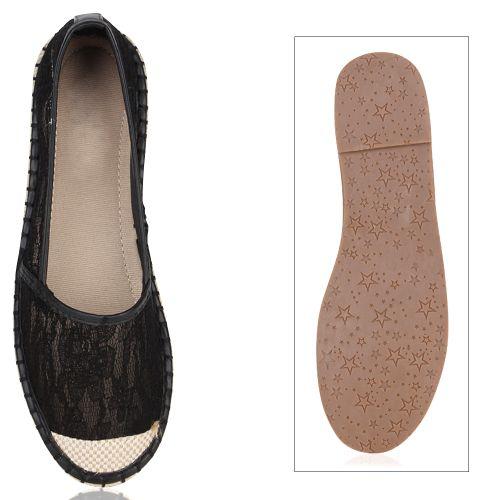 Schwarz Schwarz Slippers Slippers Slippers Espadrilles Damen Damen Damen Espadrilles PAqwBB