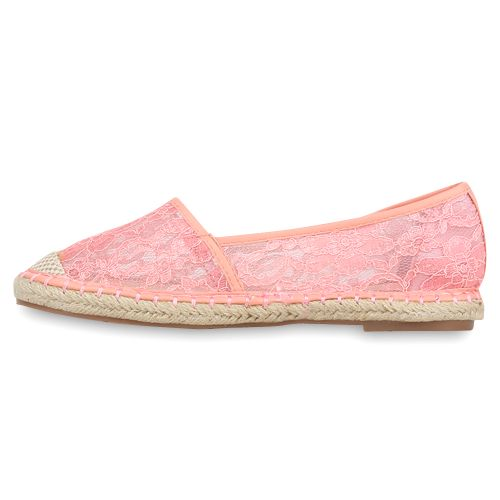 Damen Slippers Espadrilles - Rosa