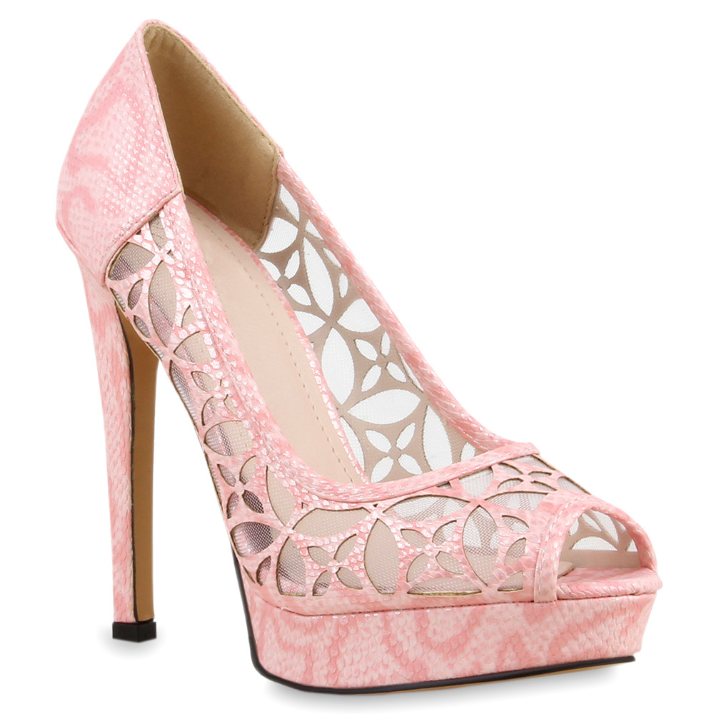 Damen Pumps Peeptoes - Rosa